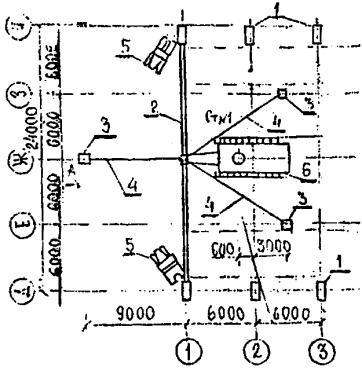 Схема установки 1-ой фермы.