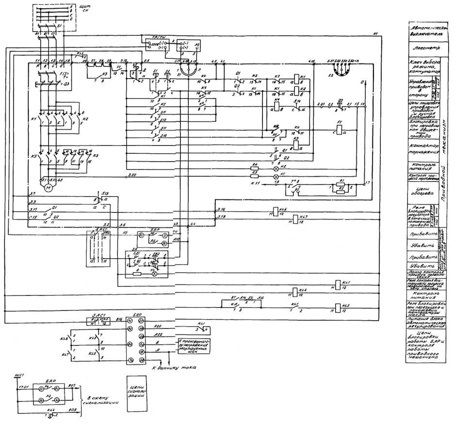 Схема привода рпн пдп 1у